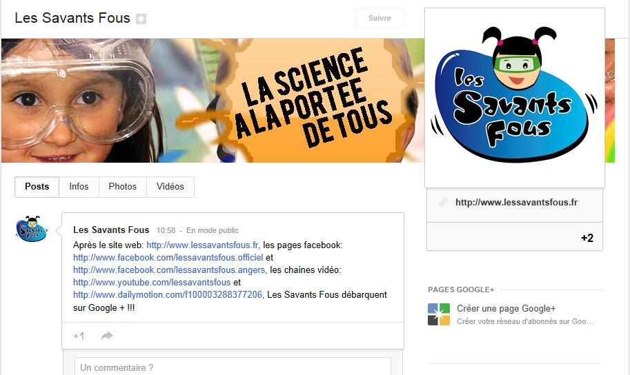 Google + des Savants Fous