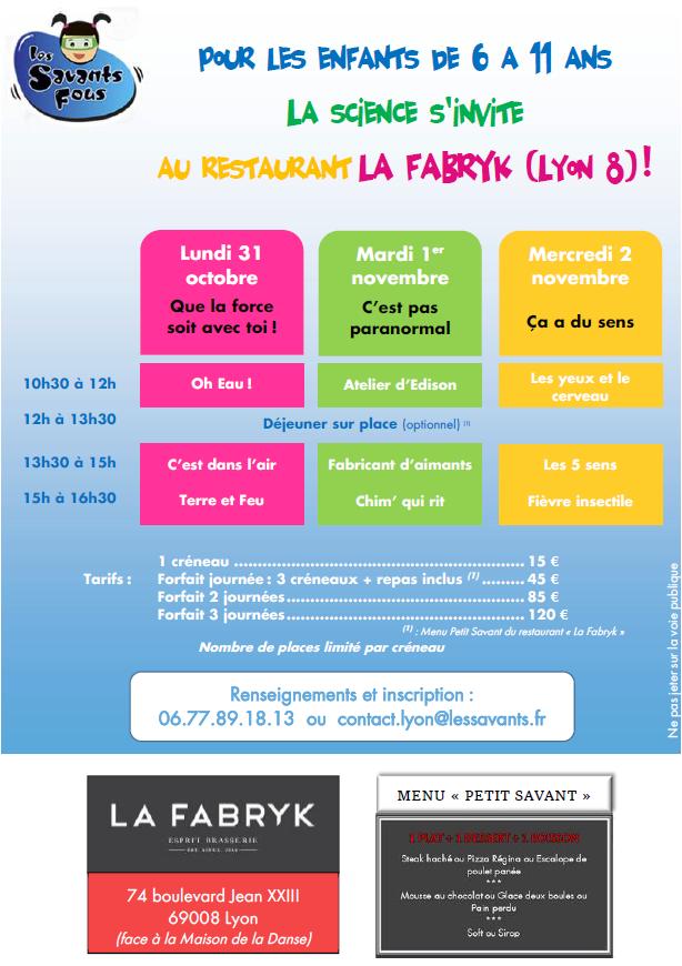 les-savants-fou_lyon_visuel_programme_restaurant_fabrik_octobre_2016